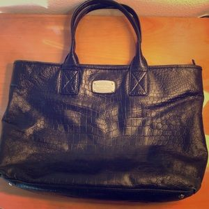 Black Michael Kors Large Tote